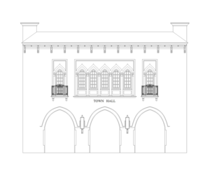 Town Hall Arts Center Sketch